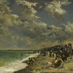 Ciel orageux sur la plage de Dieppe