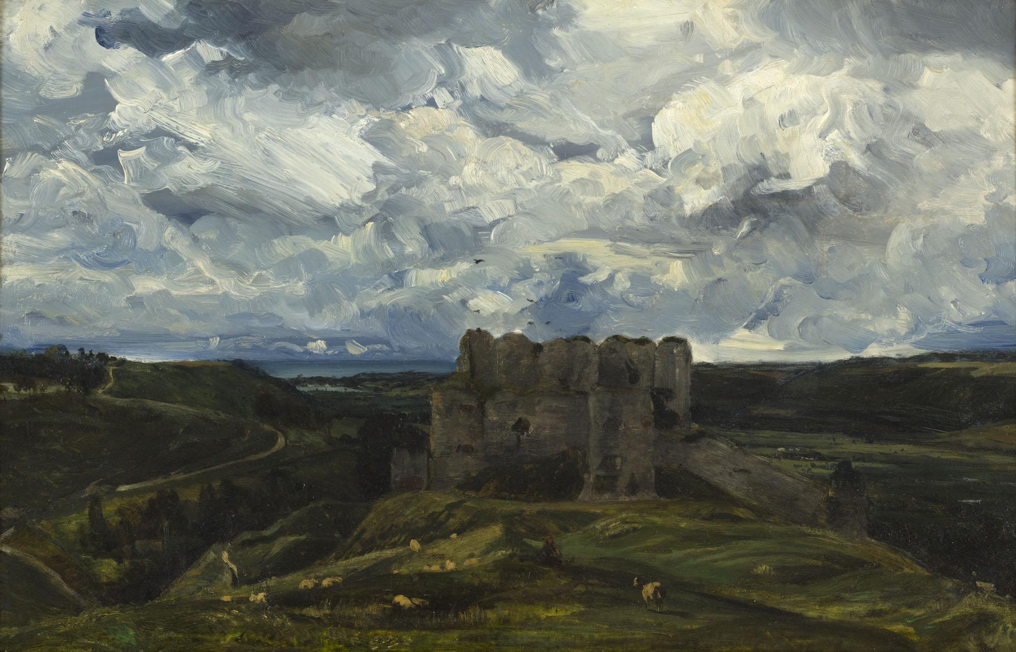 Tableau Vue du château d'Arques-la-Bataille