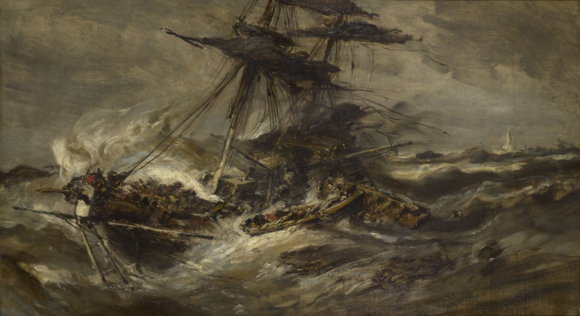 Tableau Navires dans la tempête