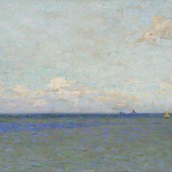Voiliers sur la mer dans le lointain