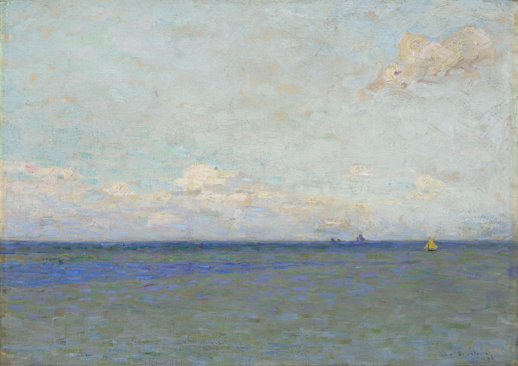 Tableau Voiliers sur la mer dans le lointain
