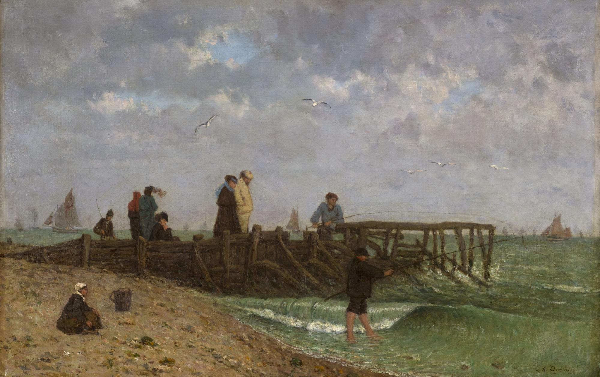 Tableau La Jetée à Villerville-sur-Mer