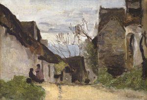 Tableau Rue de village en Normandie