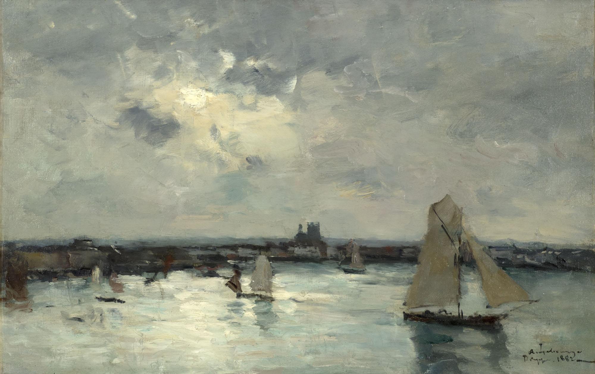 Tableau Le Port de Dieppe