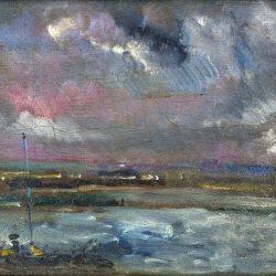 Rouen, ciel orageux