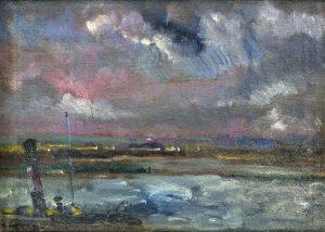 Tableau Rouen, ciel orageux