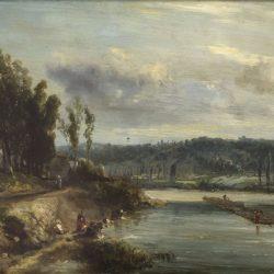 Laveuses au bord de la rivière