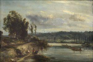 Tableau Laveuses au bord de la rivière