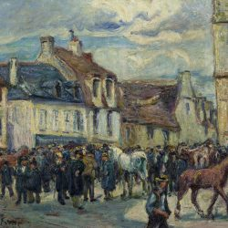 Le Marché aux chevaux à Falaise
