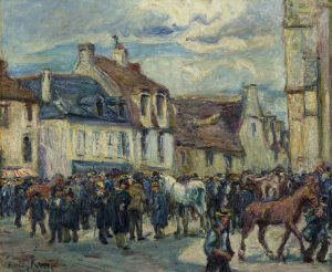 Tableau Le Marché aux chevaux à Falaise