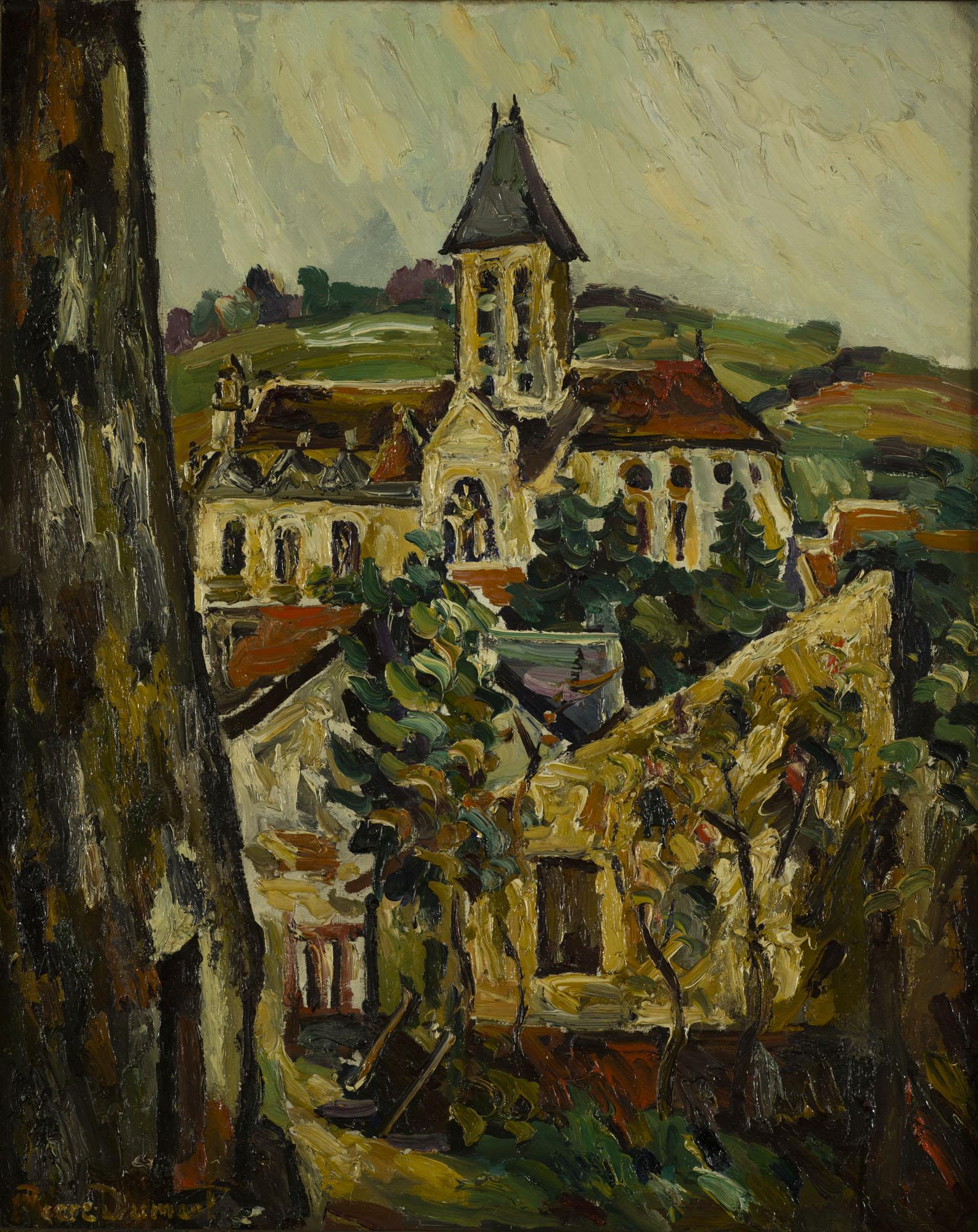 Tableau L'église de Vétheuil