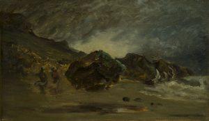 """Tableau Trouville, """"reflets d'orage"""""""