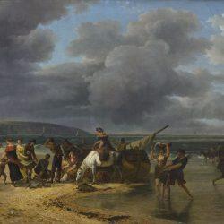 Pêche à la crevette sur la côte normande