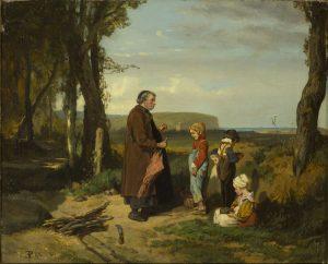 Photo du tableau de Eugène Le Poittevin - Les Dénicheurs d'oiseaux