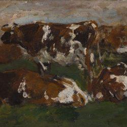 Vaches le long de la Touques