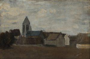 Tableau Eglise dans la plaine de Caen II