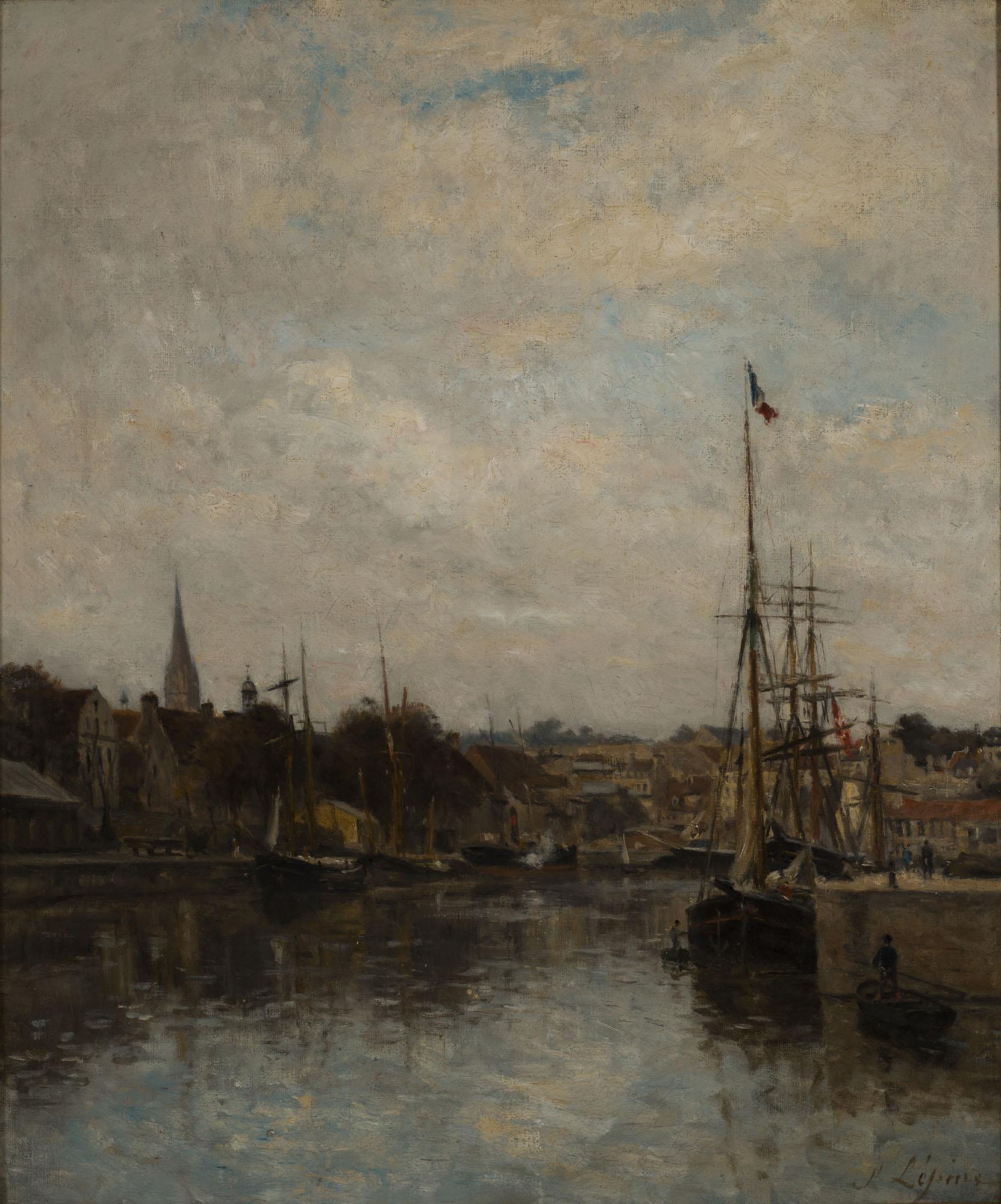 Tableau Caen, le bassin Saint-Pierre