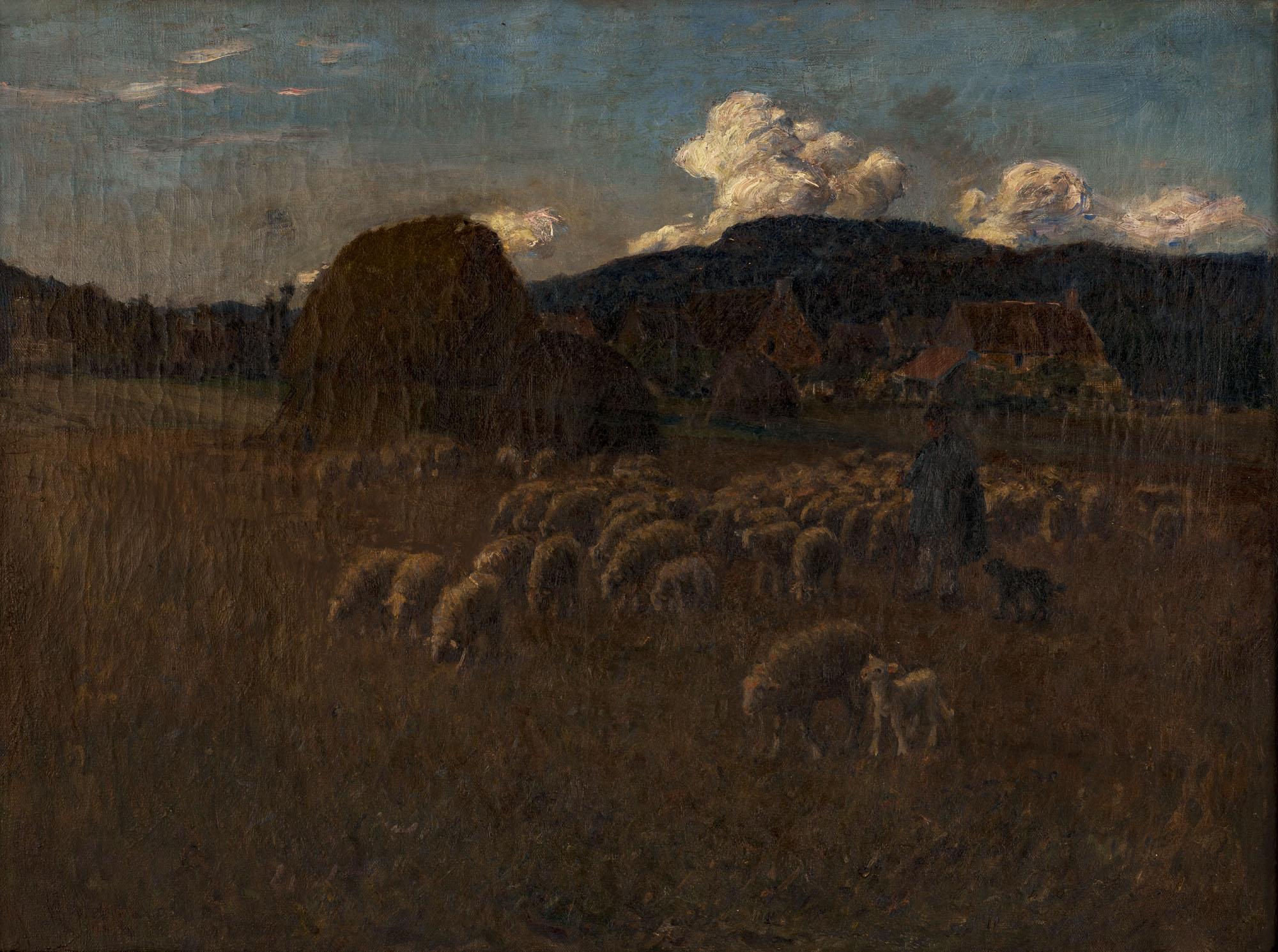 Tableau Berger et son troupeau