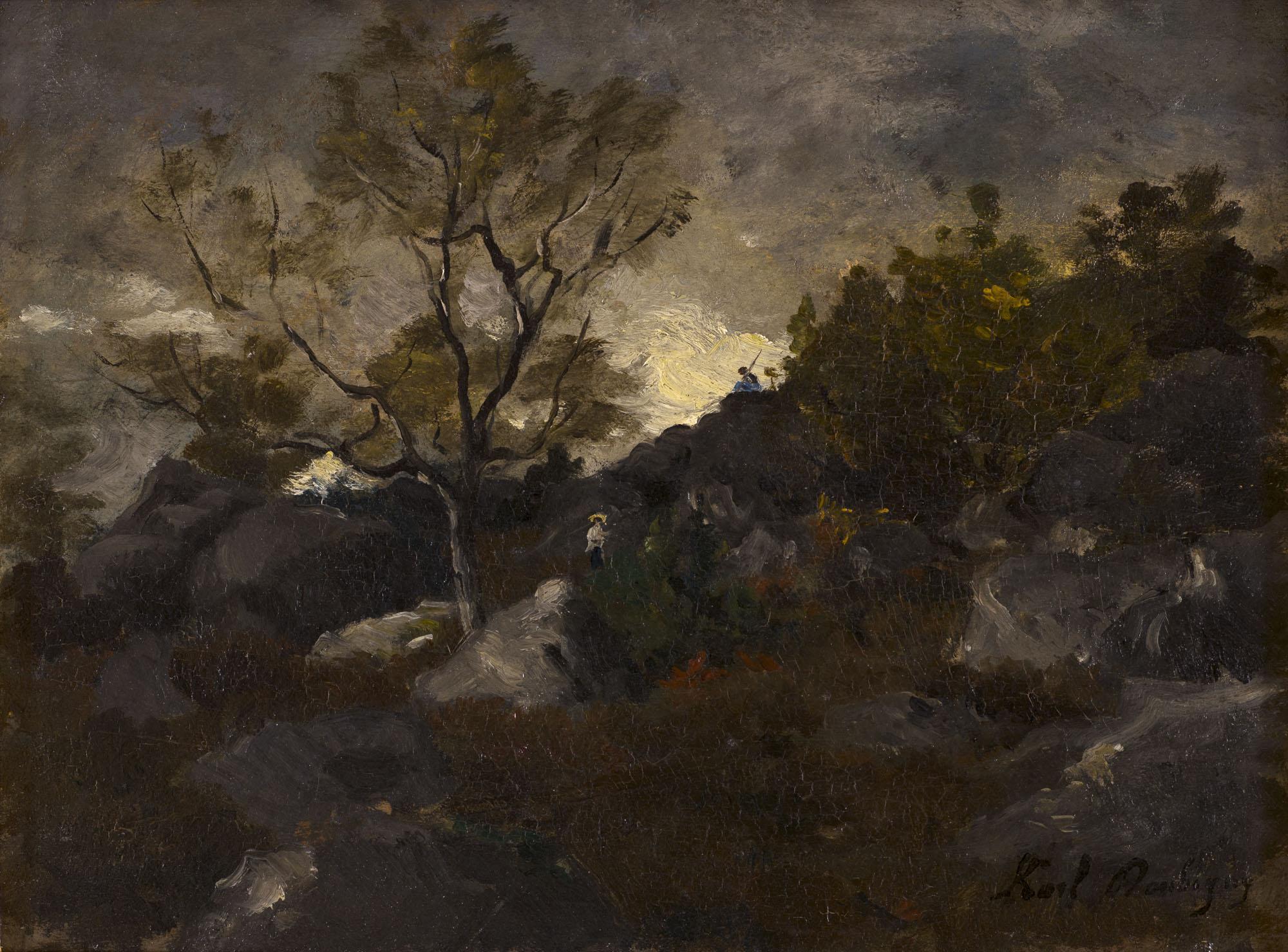 Tableau Paysage aux rochers