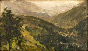 Photo du tableau de Jules-Georges Moteley - La Suisse normande