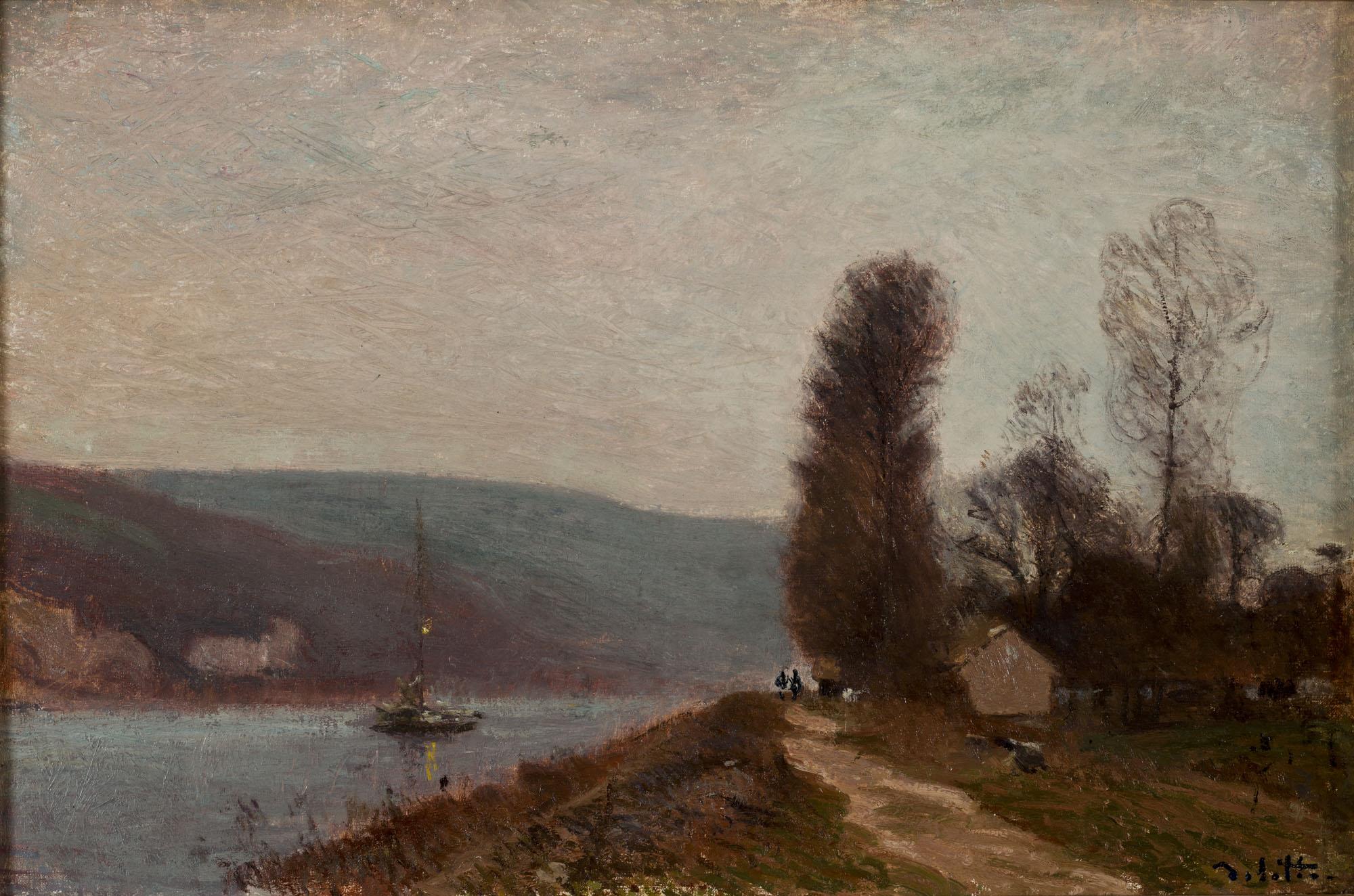 Tableau Brume matinale sur les bords de la Seine