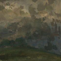 Rouen dans la brume