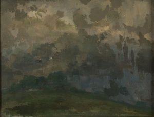 Tableau Rouen dans la brume