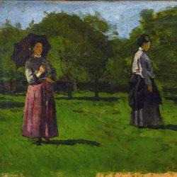 Femmes dans un verger à Saint-Siméon