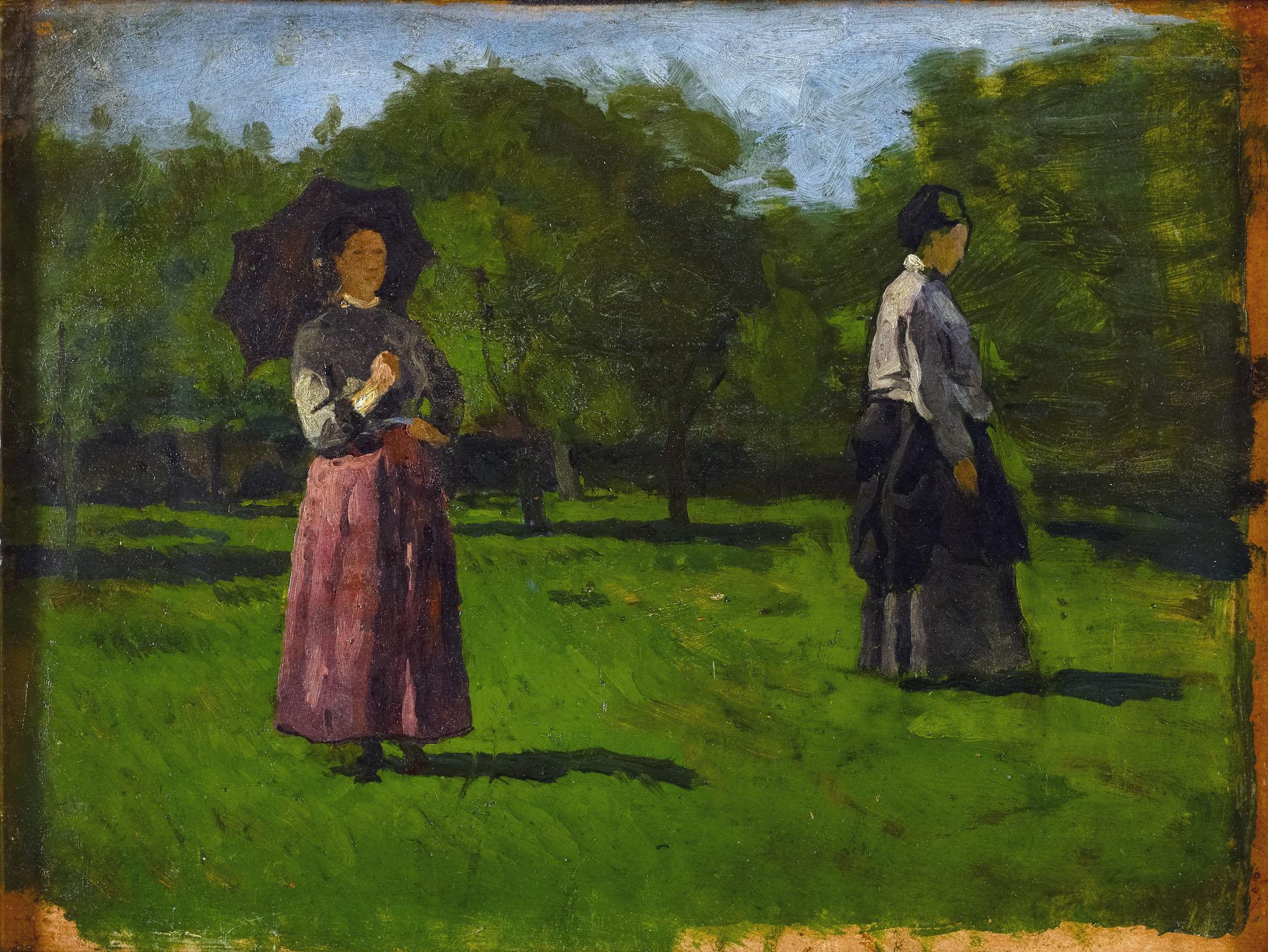 Tableau Femmes dans un verger à Saint-Siméon