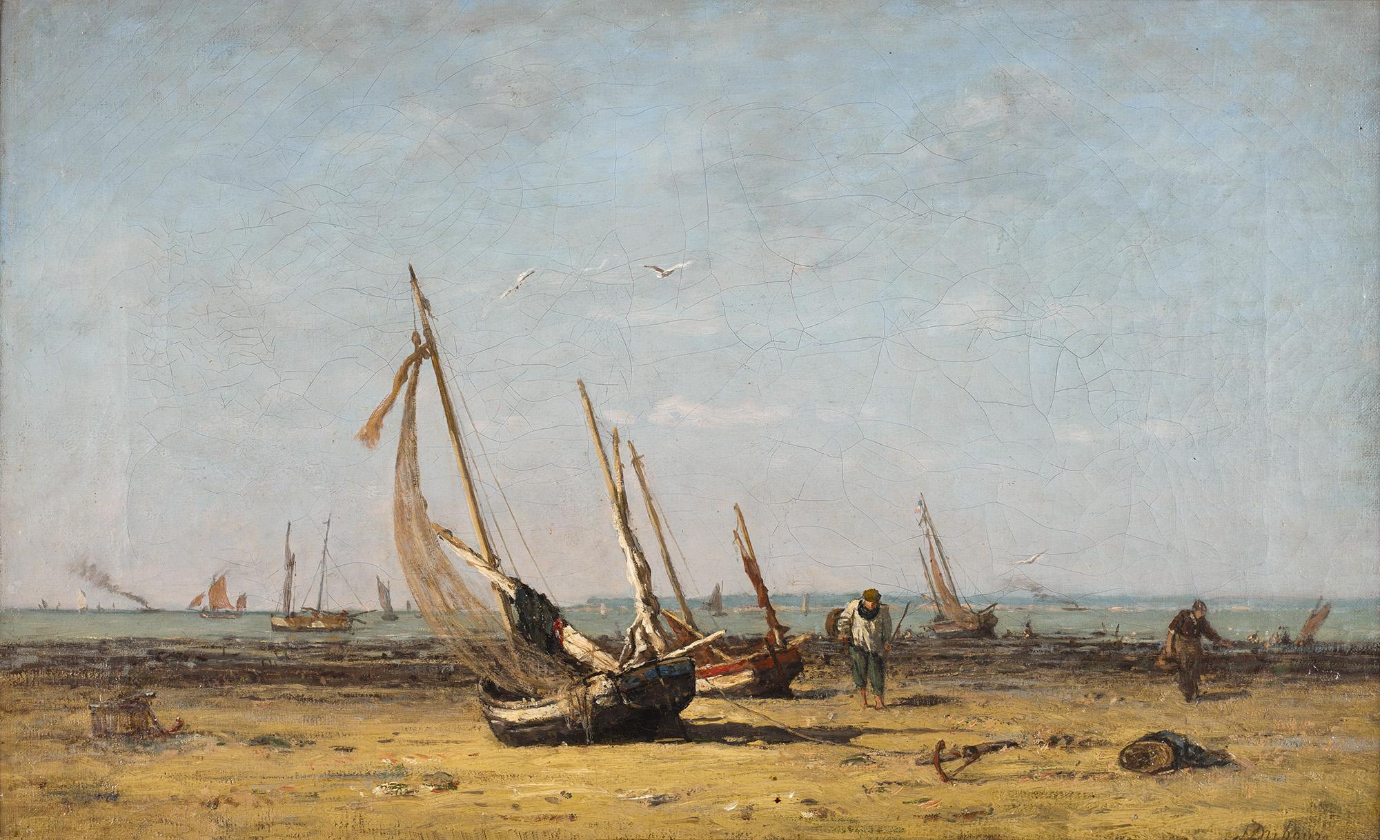 Tableau Honfleur, la plage du Ratier