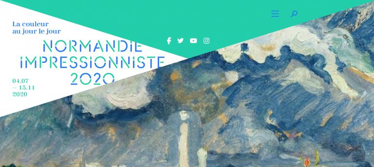 Impression d'écran du site du Festival Normandie Impressionniste
