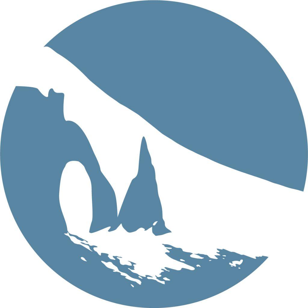 Pastille Web Logo Peindre en Normandie Déclinaison Bleue