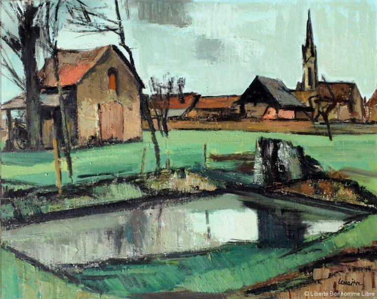 Tableau d' André Lemaître La mare 1962