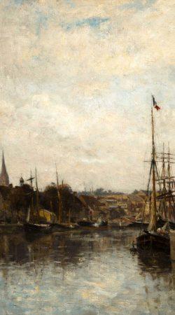 Tableau Caen, le bassin Saint-Pierre de Lépine